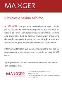 Subsídios e Salário Mínimo-1